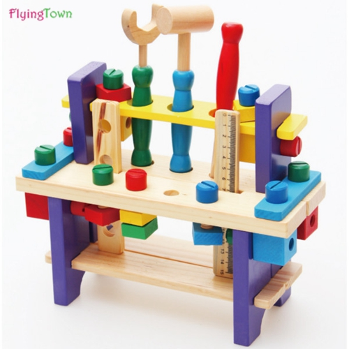 Montessori Pretend Play Toys for Children Multifunctional Tool Maintenance Box Kids Role Play Classic  wooden Educational toys