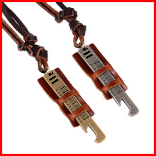 Alibaba Top Selling Vintage Leather Necklace Long Chain Fashion Punk Necklace