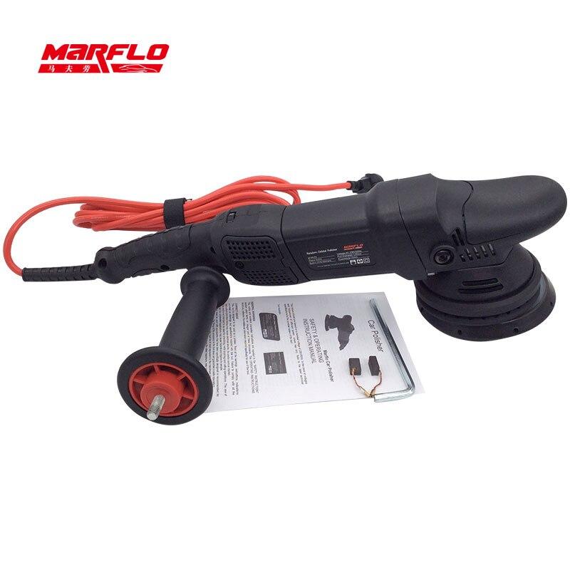 Marflo Car Polisher Auto Polishing Machine Eccentricity 15MM 21mm Dual Action Polishing Waxing Tools