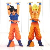 2 stks/partij 14 cm Dragon Ball Z Action Figure Speelgoed Super Saiyan zoon Goku Genki damaSpirit Bom Dragonball Bolas De Draak DBZ speelgoed