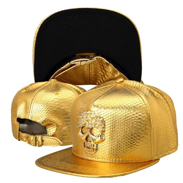 The new Crocodile Grain skull baseball cap flat -brimmed hat cool wild influx of people hip-hop hat wholesale