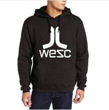WESC Hoodies Freizeit Stil Hip-Hop Baumwolle Fleece Hoody Sweatshirt Mann Crime Lose Pullover Plus Größe Jumper Marke Mit Kapuze Mäntel