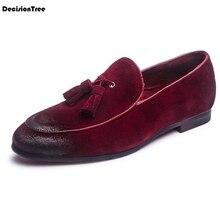 купить Summer Breathable British Style Genuine Leather Loafers Fashion Casual Soft Peas shoes Solid Tassel Design Men Flats Shoes Z63 по цене 1762.45 рублей
