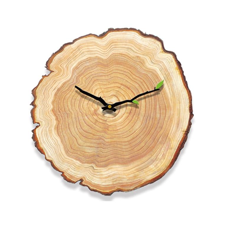 Horloge murale bois scandinave sans chiffre