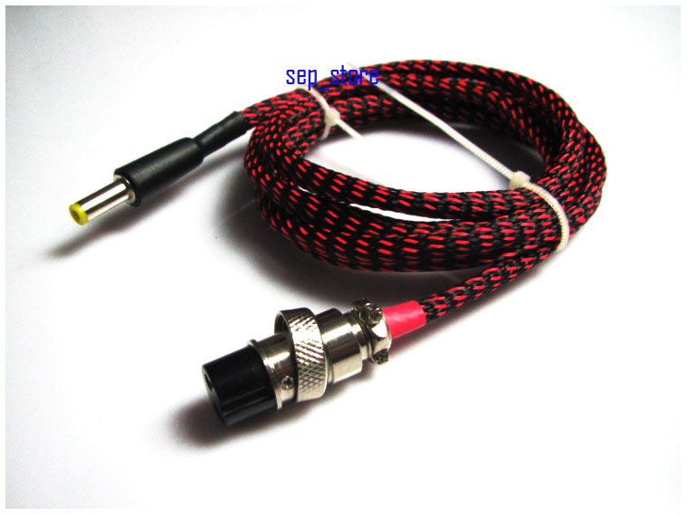 1.2 M GX16 2Pin à 5.5*2.1mm DC câble d'alimentation pour linéaire PSU LPS L163-6