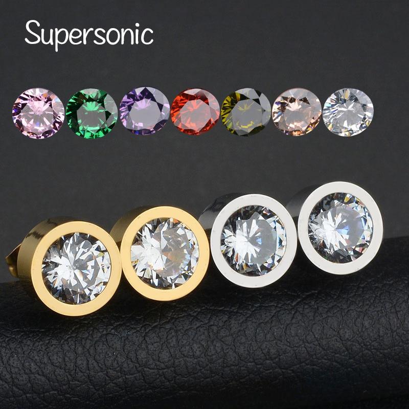 heiße Produkte elegant und anmutig Wie findet man Fashion Berühmte Marke 7 Farben AAA CZ Stein Ohrstecker ...