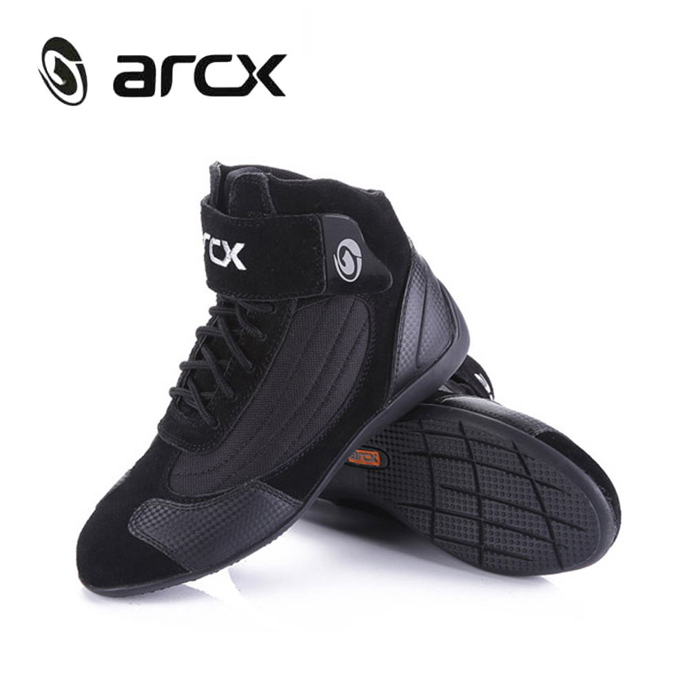 ARCX Motorcycle Boots Street Moto Racing Boots Genuine Cow Leather Motorbike Biker Chopper Cruiser Touring Ankle Shoes-in Motocycle Boots from Automobiles & Motorcycles    2