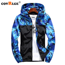 Covrlge 2018 Spring Autumn New Men Print Coat Fashion Camouflage Jacket Male Outwear Jackets Casual Mans Clothing Coats MWJ089