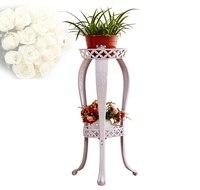 81 cm duży rozmiar europejski balkon fower garnki stoi uchwyt półka ogrodowy kwiat kwiat pergolas metal żelaza kwiat półki domu wystrój