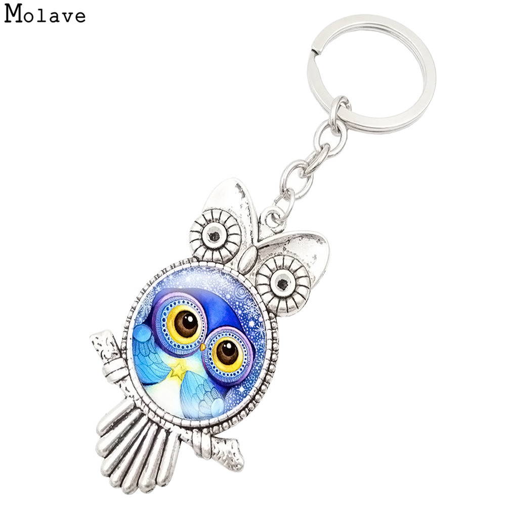 Fashion Owl Keychain & Pendant Women Key Ring Holder Key Rings Purse Bag Car Keychains For Handbag Plush Keyring se222