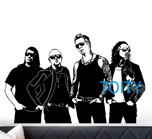 Metallica wall decal heavy metal band vinyl decal music poster room decor art mural h58cm x