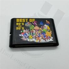 Yeni sega md video oyunu makinesi için Oyunlari kartuş için 196 ücretsiz oyunlar ile mega sürücü 16bit konsolu
