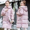 Inverno Quente Jaqueta de Algodão Acolchoado Das Mulheres Fino Casaco Longo Com Capuz Parka Senhoras Outwear