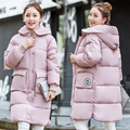 Winter Warm Padded Cotton Jacket Women Slim Long Coat Hooded Parka Ladies Outwear