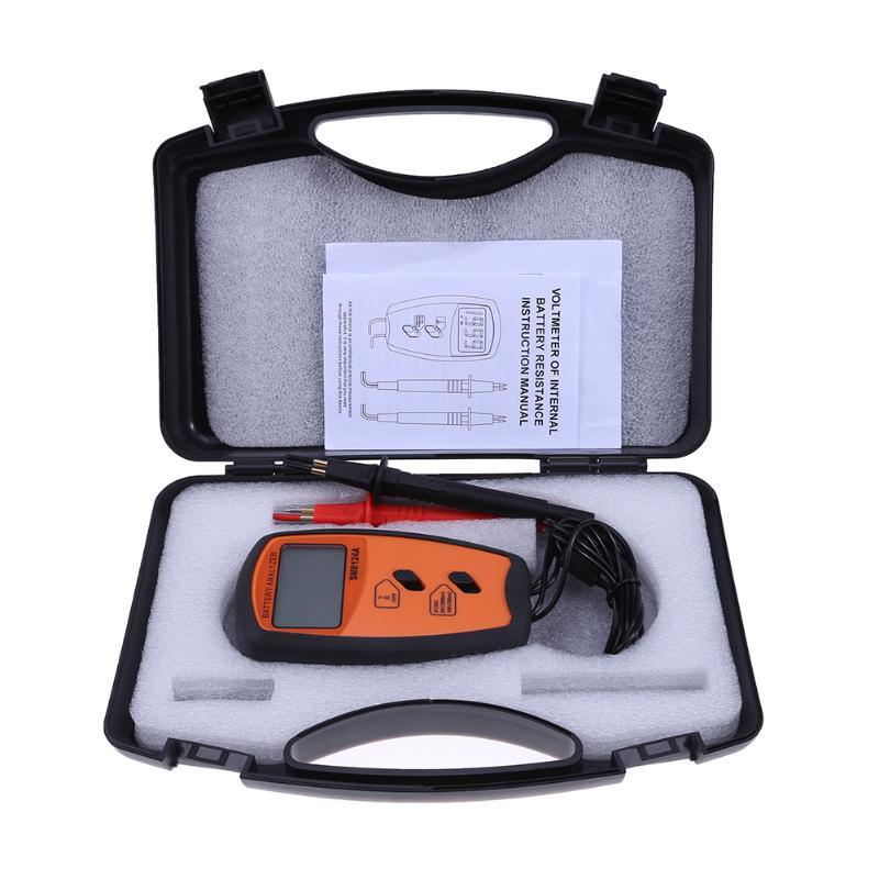Portable Electronic Battery Resistance Voltage Tester Digital LCD Display Battery Volt Measurement Detector