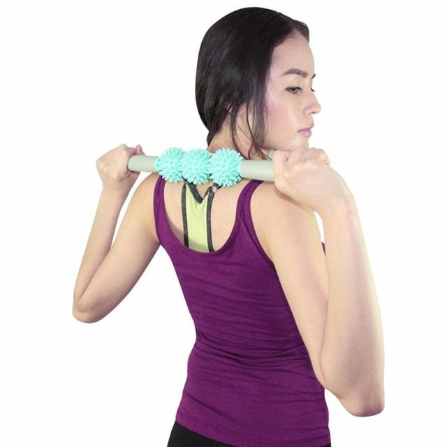 1 Pcs Massage Stick Back Neck Muscle Exercise Trigger Point Stick Deep Pressure Tool Stretching Body L3 1
