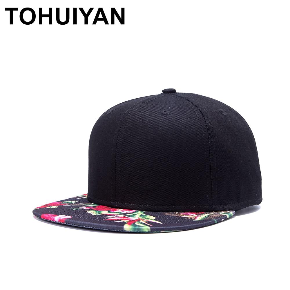4510e45e543 TOHUIYAN Men Women Floral Printed Snapback Cap Street Dance Hip Hop Caps  Summer Autumn Couple Hat