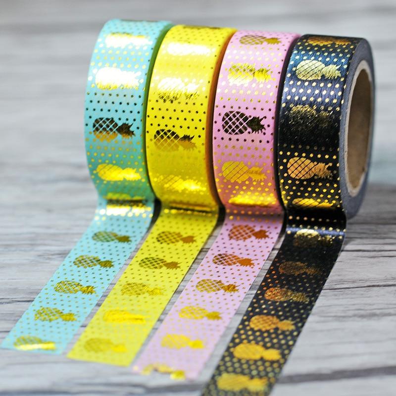 New Foil Washi Tape Scrapbooking Tools Cute Decorative Cinta Adhesiva Decorativa Japanese Stationery Washi Tapes Scrapbook Mask