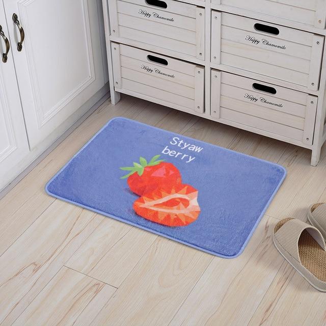 Creative Geometric Fruit Home Floor Mats Bathroom Kitchen Slip Proof Absorbent Mat