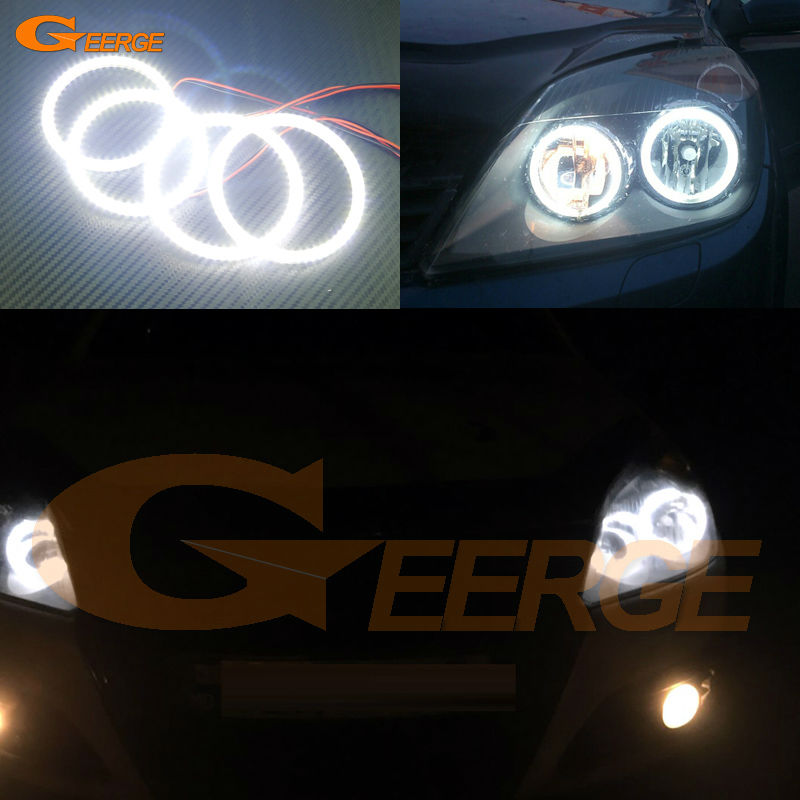 For OPEL Astra H 2004 2005 2006 2007 pro-Facelift Halogen headlight Excellent DRL Ultra bright smd led Angel Eyes kit halo rings коврики в салон opel astra h caravan 2004 &gt ун 5 шт текстиль