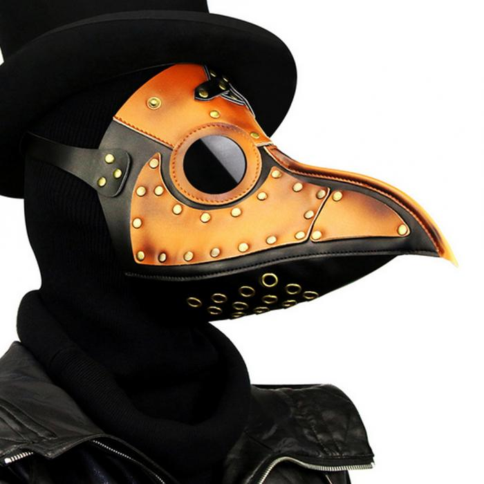 Steampunk Plague Doctor Mask Faux Leather Birds Beak Masks Halloween Art Cosplay Carnaval Props FP8