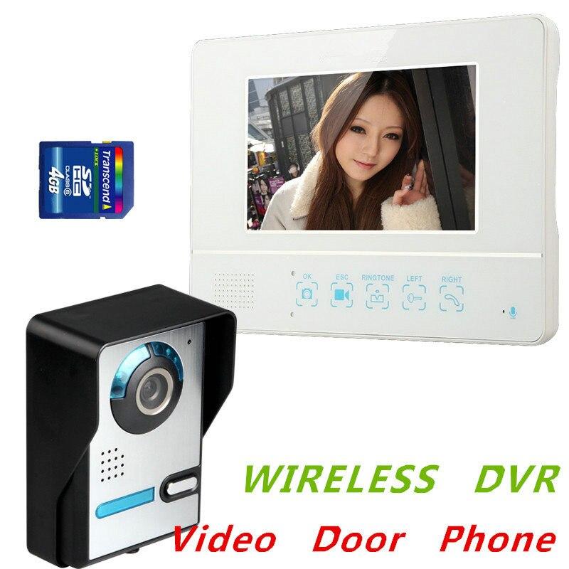 Cooperative Hot 7 Wireless Video Door Phone Audio Visual Intercom 1 Monitor In 2.4ghz Doorphone Door Intercom
