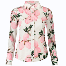 Printing Women's Blouse Cotton Casual Long Sleeve Tops Ladies soft Female Blusas Skinny Slim Women Blouse Plus Size Shirt