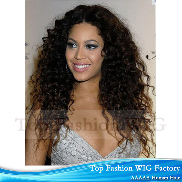 Super Star 22inch Curly Beyonce Full Lace Wig Glueless Front Lace