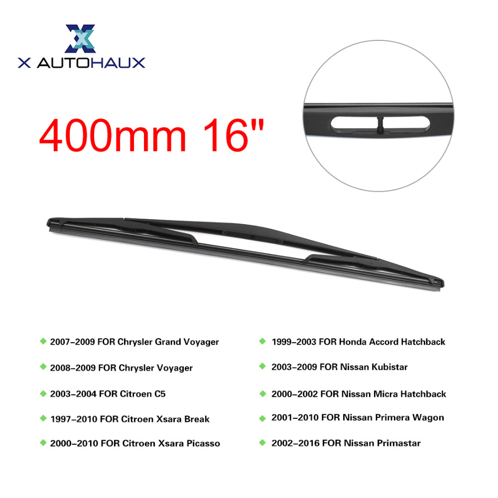X AUTOHAUX 400mm 16 Rear Window Windshield Car Wiper Blade For Nissan Kubistar 2003 To 2009 For Renault Sandero 2009 To 2017