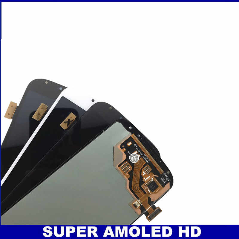 اختبار سوبر AMOLED الهاتف شاشات lcd لسامسونج غالاكسي SIV S4 i9500 i9505 i9506 i337 شاشات الكريستال السائل عرض شاشة رقمية تعمل بلمس استبدال