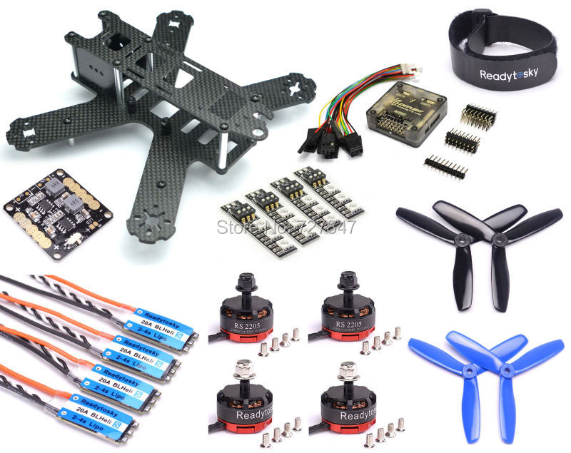 QAV210 210mm 210 Full Carbon Fiber PDB RS2205 2205 2300KV Motor Mini BLHeli-S 20A 2-4S ESC F3 Flight Controller 5045 Propeller mini zmr250 carbon fiber quadcopter cc3d evo control mt2204 2300kv motor emax blheli firmware 20a esc 5045 prop led lights board
