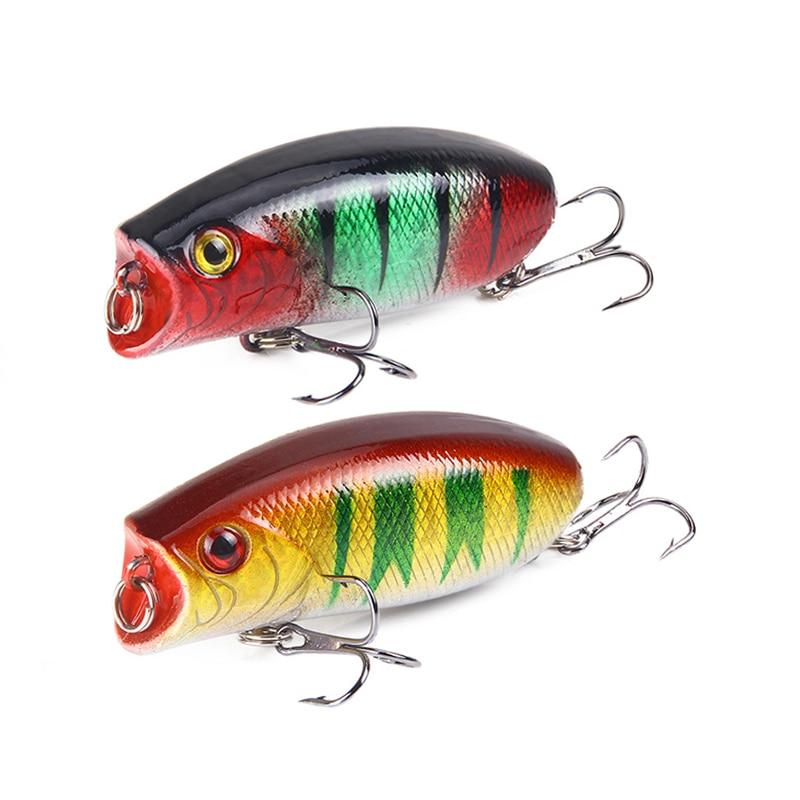 1pcs 11g 5.5cm Big Popper Fishing Lures 3D Eyes Bait Topwater Crankbait Wobbler Tackle Poppers Leurre