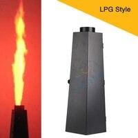 2Pcs 200W Fire Projector LPG Stage Lighting Effect Six Corner Spark Flame Machine Dmx Fire Machine