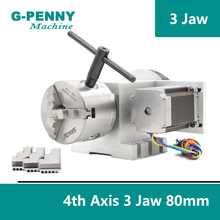 3 Jaw 80mm chuck CNC 4th Axis CNC dividing head/Rotation 6:1 A axis  for Mini CNC router/engraver woodworking engraving machine cnc 4 axis 5 axis a aixs rotary axis without chuck for cnc router cnc miiling machine best quality free shipping
