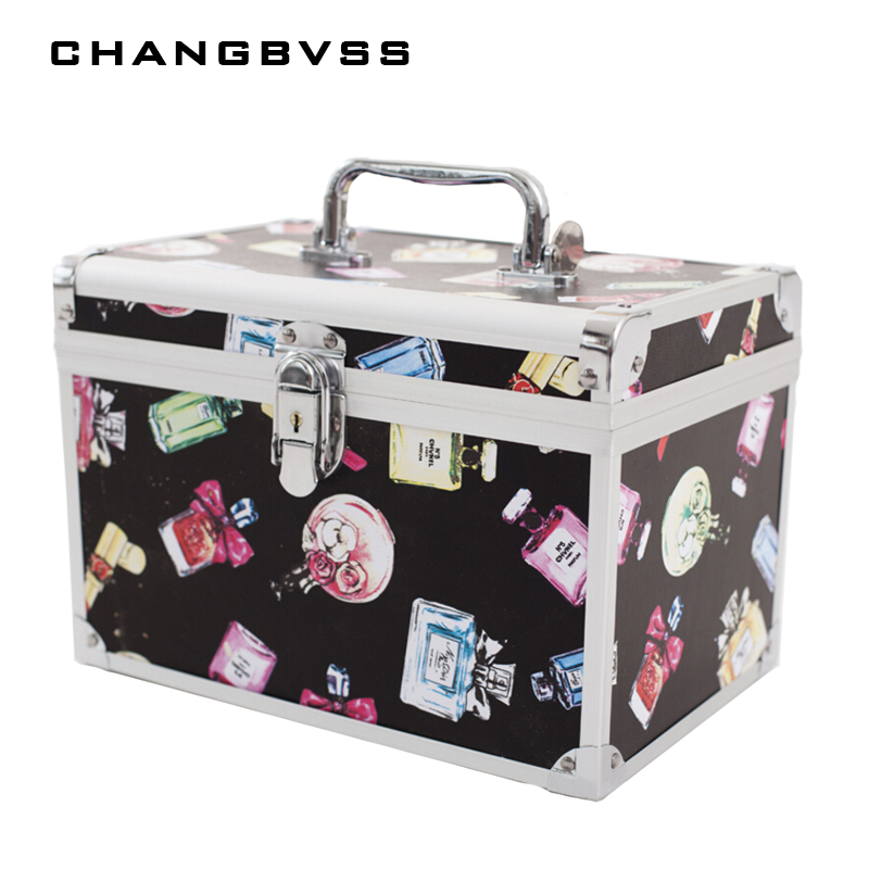 Large Capacity Makeup Organizer,Women Travel Jewelry Storage Box Container Bag Case,Portable Cosmetic Organizer Make Up Suitcase