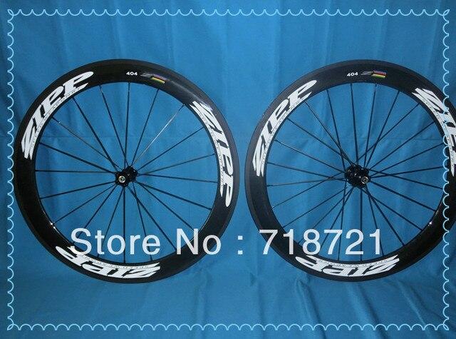 Free shipping !  carbon fiber zipp 404 & carbon wheel& carbon wheelset 50mm&clincher/matte & novatec hub & spokes