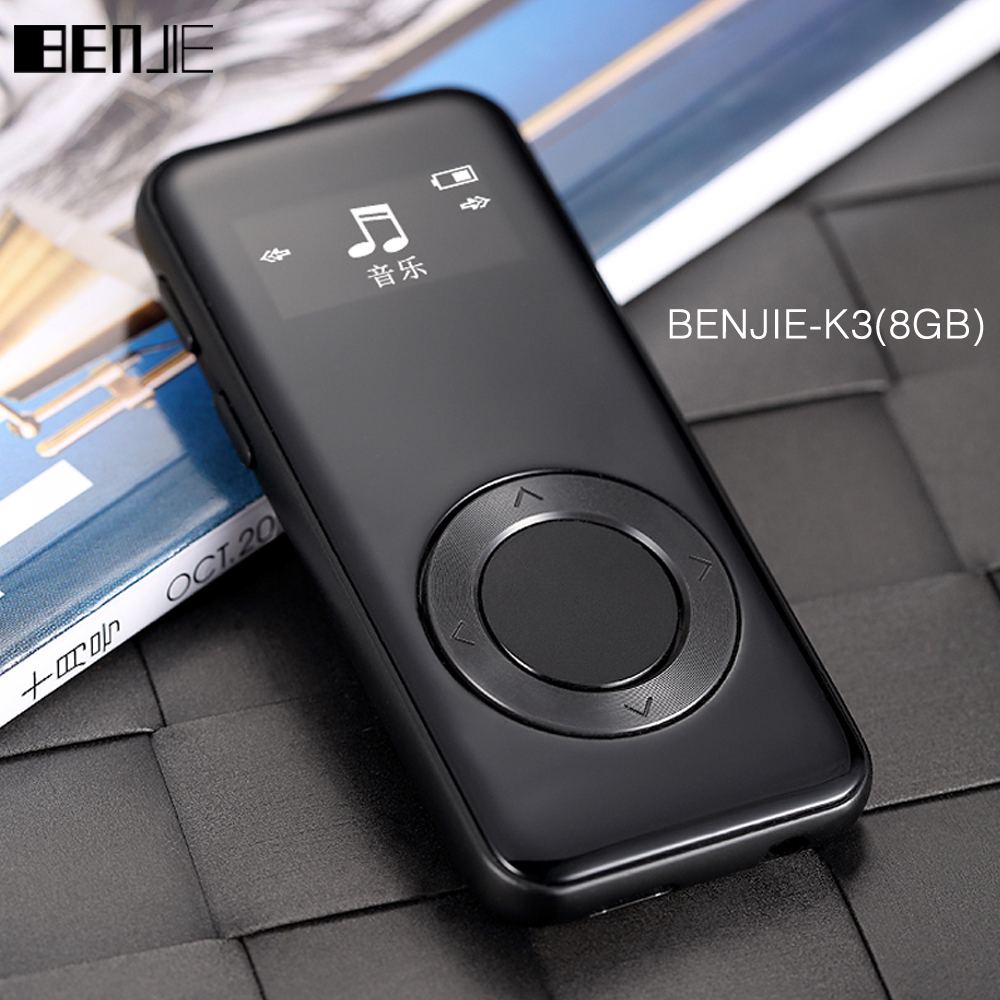 Original Benjie K3 aleación MP3 reproductor de música sin pérdida HiFi MP3 player 8 GB mini reproductor de audio portátil FM Radios ebook grabadora de voz