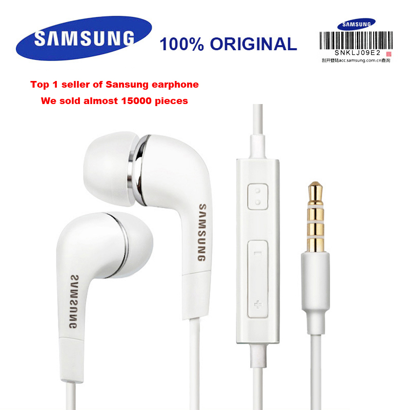 SAMSUNG <font><b>EHS64</b></font> Wired 3.5mm In-ear Earphone with Microphone Headset for Xiaomi Galaxy S8 S9 S9 Plus Support Official Verification image