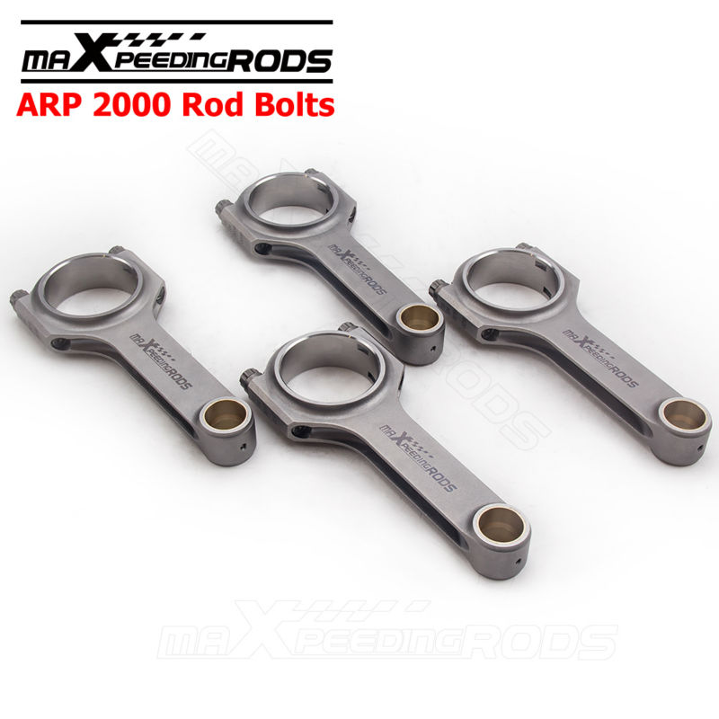 H Beam Connecting Rods for Ford Sierra Cosworth YB Pinto 2.0 Genuine 3/8 ARP 2000 bolts 128.3mm Conrod Balanced 4340 froged