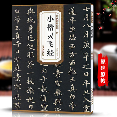 Chinese Brush Calligraphy Book The Clock Will Fly By Ling Shao Jingtang Xiaokai Regular Script Copybook
