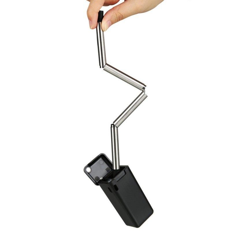 Faltbare Trinken Stroh 23 cm Faltbare Strohhalm Reusable Mit Keychain Loch Reise Outdoor Haushalt Home Küche Bar Zubehör