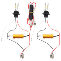 2x 1156 BA15S S25 BAU15S Canbus Dual Color Switchback LED Car Auto Front Turn Signal DRL