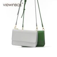 Viewinbox Brand Crossbody Bags For Women Luxury Brand Split Leather Satchels Messenger Bag Casual Crossbody Women