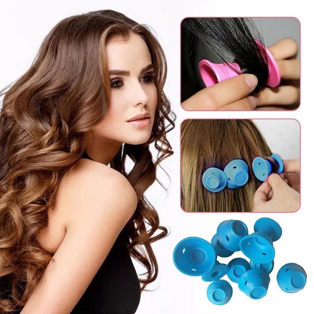 10Pcs Magic Silicone Hair Curlers Rollers No Clip Formers Styling Curling Tool(China)