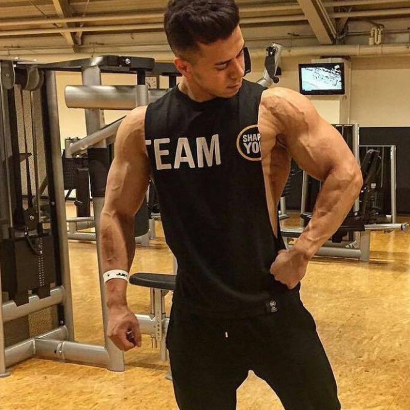 Mens 2018 Summer new gyms Fitness bodybuilding   Tank     Tops   workout clothing cotton male sleeveless Sling shirt Vest undershirt