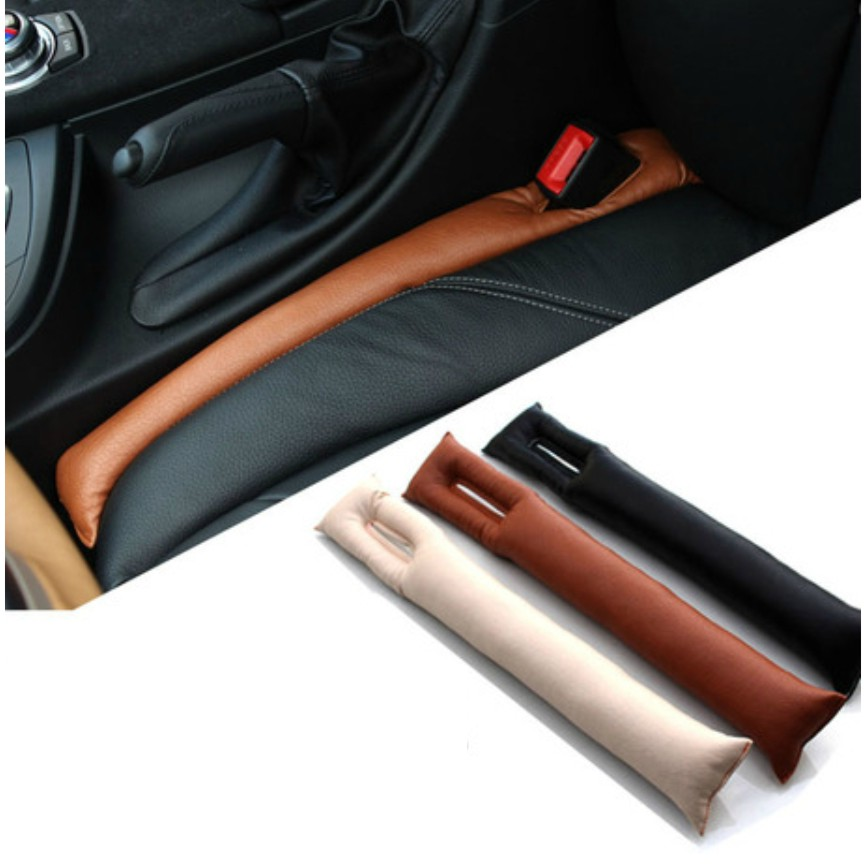 2pcs/lot Universal Car Seat Gap Filler PU Leather Auto Seats Leak Stop Pad Soft Padding Spacer Holster Black Beige Brown