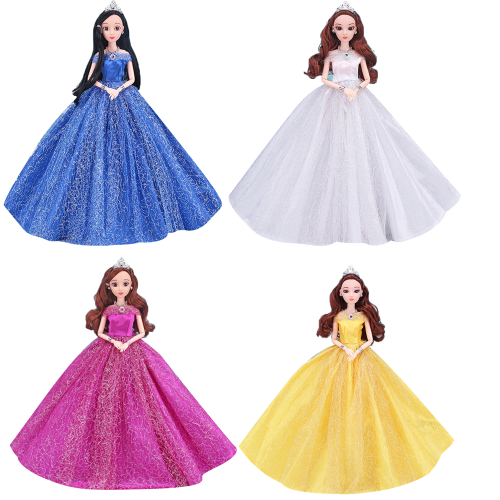 NK One Pcs 2019 robe de mariée princesse Noble robe de soirée pour poupée Barbie mode Design tenue meilleur cadeau pour fille poupée JJ