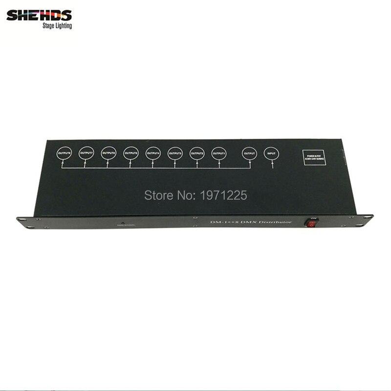 2pcs Stage Light Controller DMX512 Splitter Light Signal Amplifier Splitter 8 way DMX Distributor for stage Equipment dmx512 digital display 24ch dmx address controller dc5v 24v each ch max 3a 8 groups rgb controller