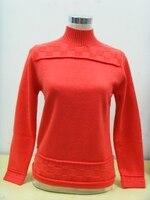100 кашемировый свитер женский Водолазка арбузный красный пуловер натуральный толстый теплый высокое качество распродажа Бесплатная доста