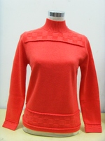 100 Cashmere Sweater Women Turtleneck Watermelon red Pullover Natural Thick Warm High Quality Clearance Sale Free Shipping